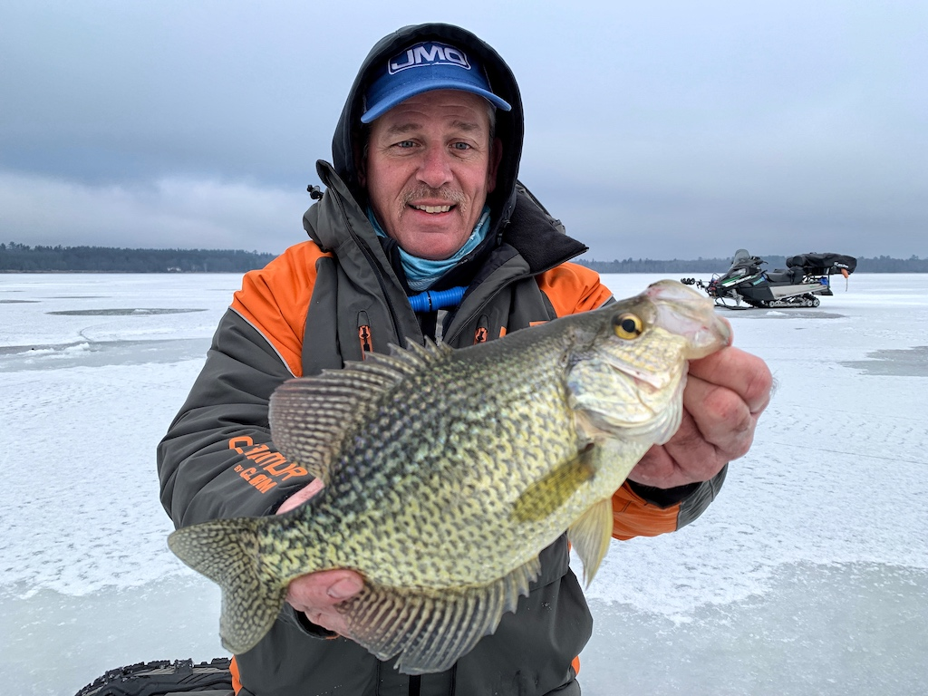 early ice crappie slab